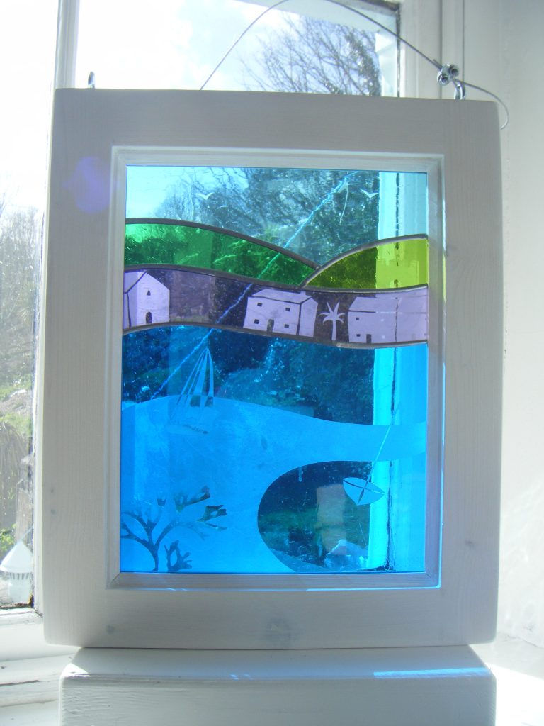 Etched Boats On Glass
